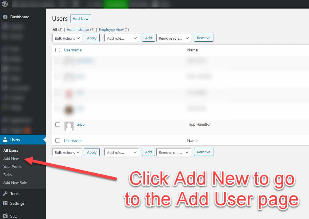 how to add user to wordpress