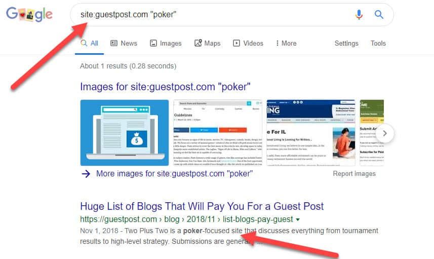 guest post search modifier