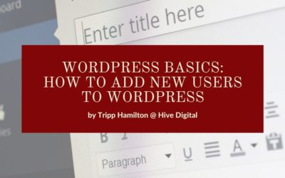 How to Add a New User to WordPress