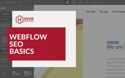 Webflow SEO Basics